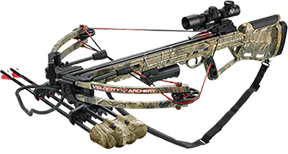 14 Defiant Crossbow 150# Package W/4x32 Scope