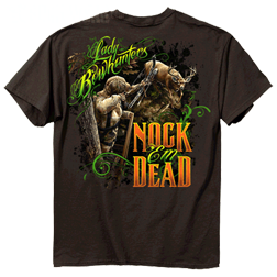 Ladies Nock'em Dead Tshirt Dark Chocolate Small