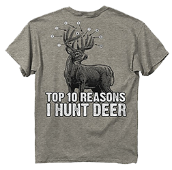 Ten Reasons Deer Athletic S/s Tshirt Heather Large