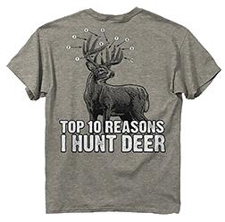 Ten Reasons Deer Athletic S/s Tshirt Heather 2xlarge