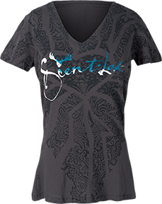 Ladies Signature S/s Tshirt Charcoal Large