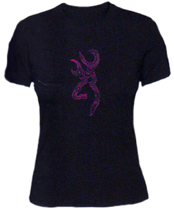 Womens Henna Buckmark S/s Fitted Tshirt Black Medium