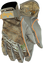 Velocity Bow Release Glove W/touch Tip Realtree Xtra L