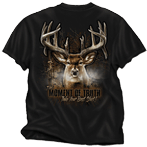 Moment Of Truth Deer Tshirt Black Adult 3xlarge