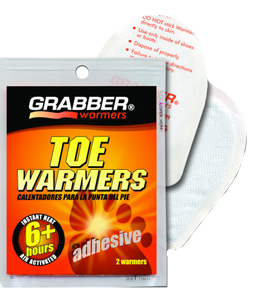 Grabber Toe Heater W/adhesive