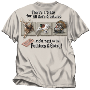All Gods Creatures Sand Tshirt Adult Large