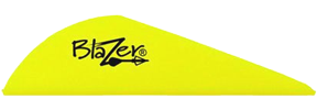 "Blazer Vanes 2"" Neon Yellow 100 pack"