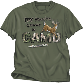 Favorite Color Camo Moss Tee Small