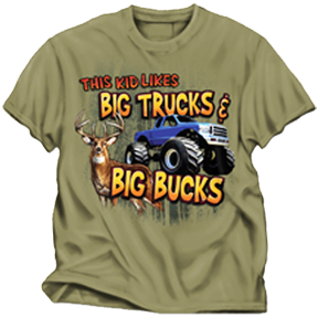 Big Truck & Big Buck Prairie Tshirt Youth Large