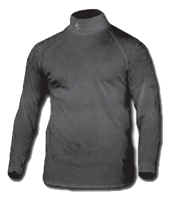 Qb 1 Mock Turtleneck Black 2xlarge