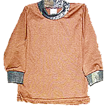 Long Sleeve Brown Tee W/camo Mossy Oak Breakup 18-24 Months