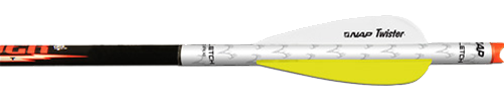"Nap 2"" Twister Quikfletch White/yellow/yellow"