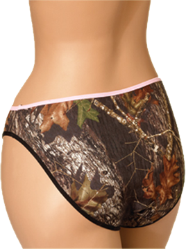 Pantie Breakup Camo W/pink Trim Small
