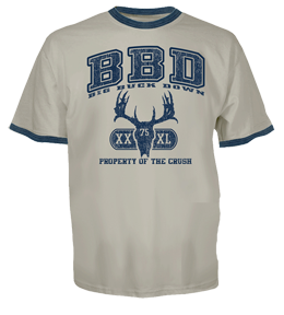 Crush Big Buck Down Tshirt Navy 2xlarge
