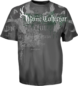Bone Collector Tshirt Charcoal 3xlarge