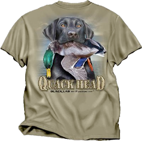 Quakhead Black Lab Tshirt Dust Xlarge