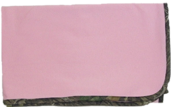 Pink Blanket W/mossy Oak Trim