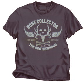 Bone Collector Live To Hunt S/s Tshirt Charcoal 2xlarge