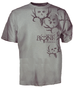 Bone Collector Mixed Heads Short Sleeve Tshirt Grey 3x