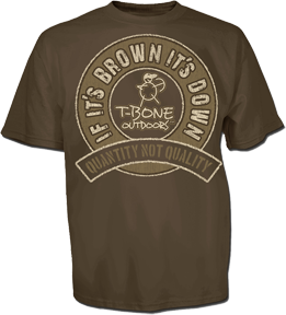T-bone Brown Its Down Short Sleeve Tshirt Coffee 3xlarge