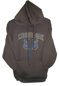Mens Hooded Sweatshirt Mossy Oak Brown Xlarge