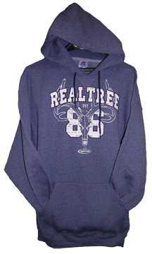Mens Hooded Sweatshirt Realtree Navy Xlarge