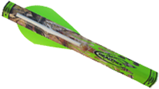 Realtree Shrink Fletch Green Realtree Wrap 2 Green & 1 White