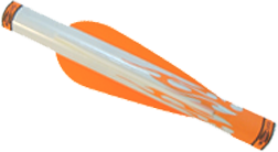 "Crossbow Shrink Fletch 3"" 2 Orange & 1 White"