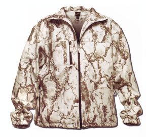 Full Zip Windproof Fleece Jacket Snow Camo Large