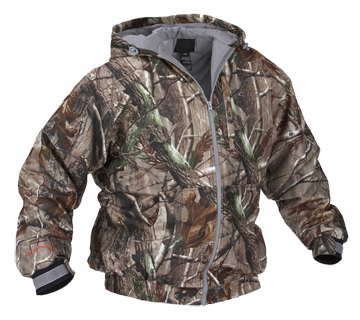 Quiet Tech Hooded Jacket Real Tree All Purpose Large