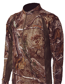 Attack 1/4 Zip Shirt Realtree All Purpose 2x