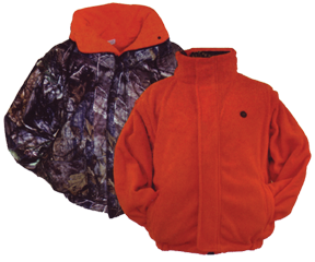 Reversible Jacket W/zip Off Sleeve Rtap/blaze Fleece 2x