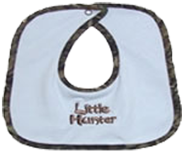 Blue Bib W/mossy Oak Breakup Trim W/little Hunter