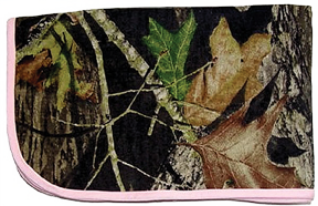 Blanket Mossy Oak Breakup W/pink Trim