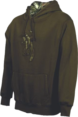 Mens Buckmark Camo Sweatshirt Chestnut Large