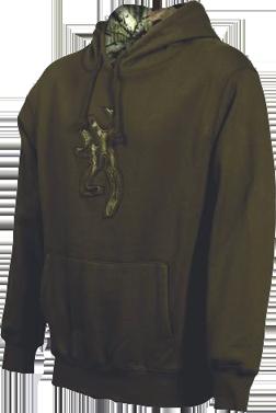 Mens Buckmark Camo Sweatshirt Chestnut 2xlarge