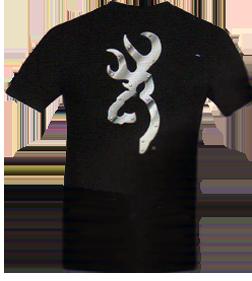 Mens Browning S/s Tshirt Black W/buckmark Metal Xlarge
