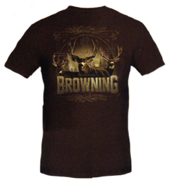 Mens Browning Big Three S/s Tshirt Chestnut Large