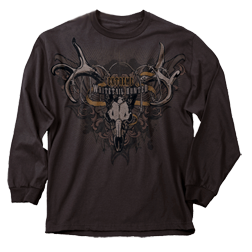 Extreme Whitetail Hunter Long Sleeve Tshirt Chocolate Xlarge