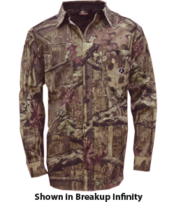 Mossy Oak Cape Back Long Sleeve Shirt Breakup Infinity Large