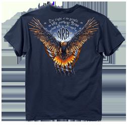 Nra Gun Wing Eagle Tshirt Blue Dusk 2xlarge