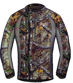 Attack 1/4 Zip Shirt Realtree Xtra Camo Large