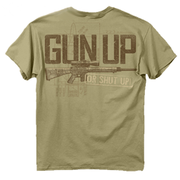 Gun Up Tshirt Sand Large