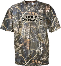 Duck Dynasty Logo Short Sleeve Tshirt Camo & Max 4 3xlarge