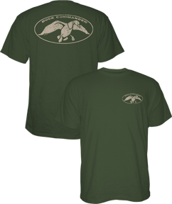 Duck Commander Logo S/s Tshirt Moss Xlarge