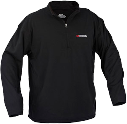 X System Heavyweight Fleece Pullover Black Xlarge