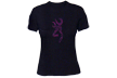 Womens Henna Buckmark S/s Fitted Tshirt Black Small