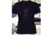 Womens Henna Buckmark S/s Fitted Tshirt Black Xlarge