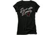 Ladies Duck Dynasty S/s Fitted Tshirt Fancy Flight Black L