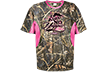 Ladies Yuppie Girl S/s Shirt Realtree Max-5 W/pink Xlarge